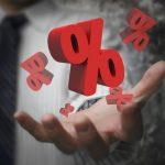 Korkokaton muutos kuvattu prosenteilla
